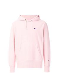 Modische rosa Pullover mit einem Kapuze für Herren von