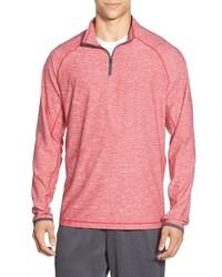 rosa Pullover mit einem Reißverschluss am Kragen