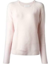 rosa Pullover mit einem Rundhalsausschnitt