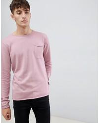 rosa Pullover mit einem Rundhalsausschnitt von D-struct