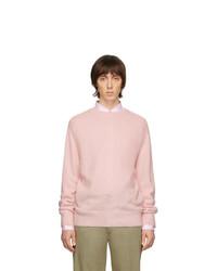 rosa Pullover mit einem Rundhalsausschnitt von Thom Browne
