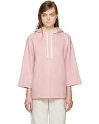 rosa Pullover mit einer Kapuze