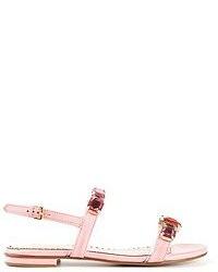 rosa Römersandalen aus Leder von Moschino