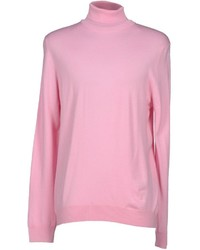 rosa Rollkragenpullover