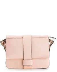 rosa Satchel-Tasche aus Leder