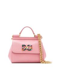 rosa Satchel-Tasche aus Leder von Dolce & Gabbana