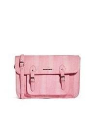 rosa Satchel-Tasche aus Leder von French Connection