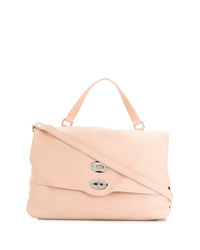 rosa Satchel-Tasche aus Leder von Zanellato