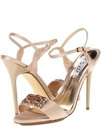 rosa Satin Sandaletten