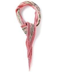 rosa Schal mit Blumenmuster