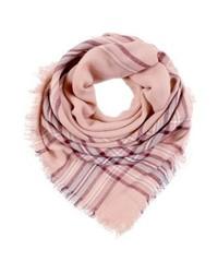 rosa Schal mit Karomuster von mint&berry