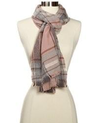 rosa Schal mit Schottenmuster
