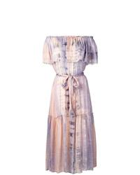 rosa Mit Batikmuster schulterfreies Kleid von Raquel Allegra