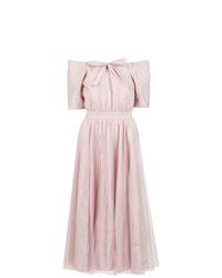 rosa schulterfreies Kleid von Gloria Coelho