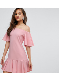 rosa schulterfreies Kleid von John Zack Tall
