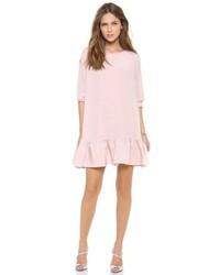 rosa schwingendes Kleid