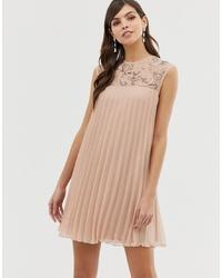 rosa schwingendes Kleid von ASOS DESIGN