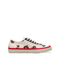 rosa Segeltuch niedrige Sneakers mit Blumenmuster von Marni