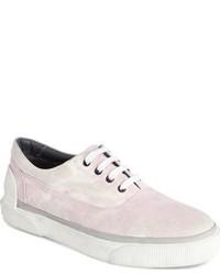 rosa Segeltuch niedrige Sneakers
