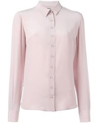 rosa Seide Businesshemd von Alexander McQueen