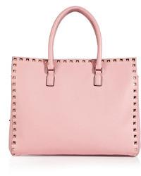 rosa Shopper Tasche aus Leder