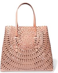 rosa Shopper Tasche aus Leder von Alaia