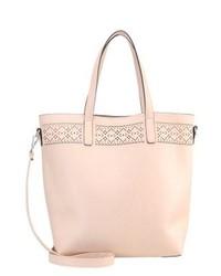 rosa Shopper Tasche aus Leder von Anna Field