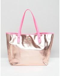 rosa Shopper Tasche aus Leder von BAN.DO
