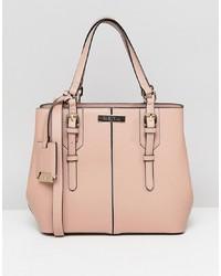 rosa Shopper Tasche aus Leder von Carvela