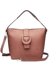 rosa Shopper Tasche aus Leder von COLLEZIONE ALESSANDRO