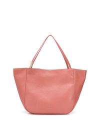 rosa Shopper Tasche aus Leder von Jimmy Choo