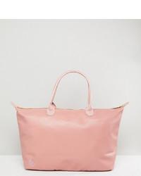 rosa Shopper Tasche aus Leder von Mi-pac