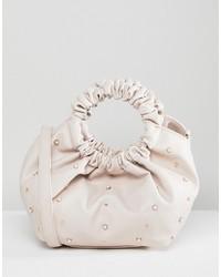 rosa Shopper Tasche aus Leder von Oh My Gosh Accessories