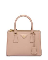 rosa Shopper Tasche aus Leder von Prada