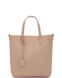 rosa Shopper Tasche aus Leder von Saint Laurent