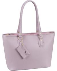 rosa Shopper Tasche aus Leder von Sansibar