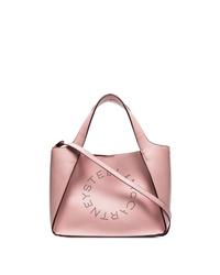 rosa Shopper Tasche aus Leder von Stella McCartney