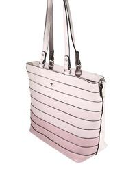 rosa Shopper Tasche aus Leder von Tom Tailor