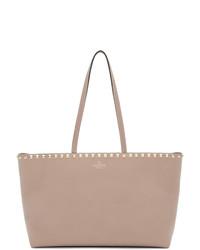 rosa Shopper Tasche aus Leder von Valentino