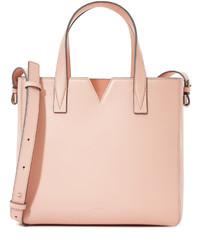 rosa Shopper Tasche aus Leder von Vince