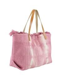 rosa Shopper Tasche aus Segeltuch von COLLEZIONE ALESSANDRO