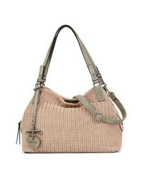 rosa Shopper Tasche aus Segeltuch von EMILY & NOAH