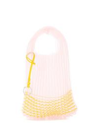 rosa Shopper Tasche aus Segeltuch von Jil Sander