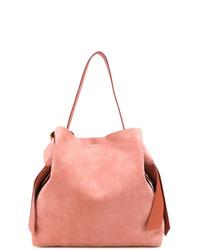 rosa Shopper Tasche aus Wildleder von Acne Studios
