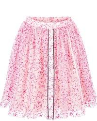 rosa Skaterrock mit Blumenmuster von Fendi