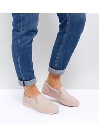 rosa Slip-On Sneakers aus Leder von ASOS DESIGN