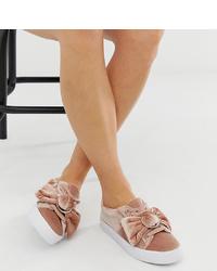 rosa Slip-On Sneakers von ASOS DESIGN