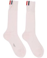 rosa Socken von Thom Browne