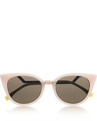 rosa Sonnenbrille von Fendi