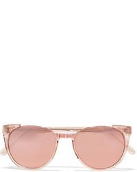 rosa Sonnenbrille von Linda Farrow